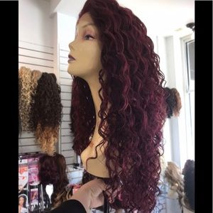 Red wiind Lacefront wig 2020 longLacefrnhgvdhv